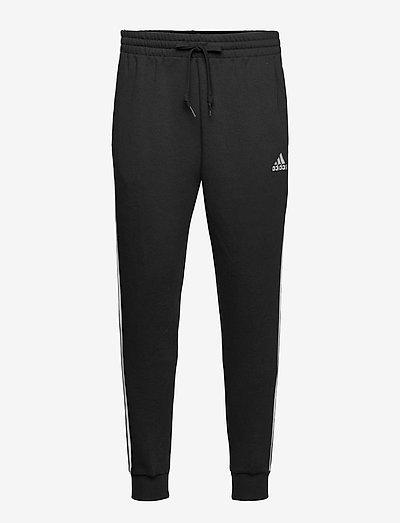 Essentials Fleece Fitted 3-Stripes Pants - sweatpants - black/white
