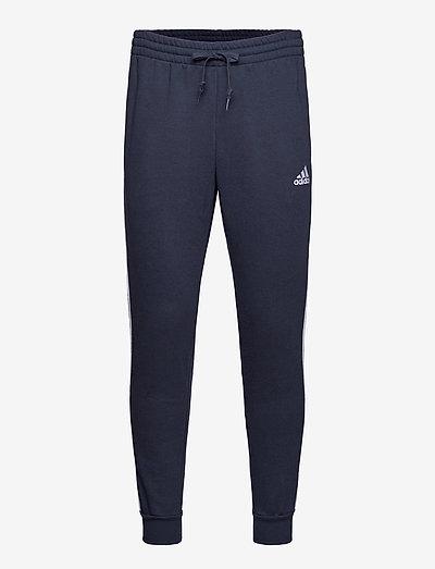 Essentials Fleece Fitted 3-Stripes Pants - sweatpants - legink/white