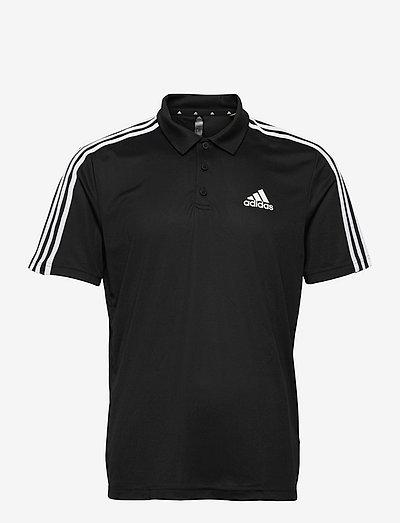 Primeblue Designed To Move Sport 3-Stripes Polo Shirt - pikeer - black