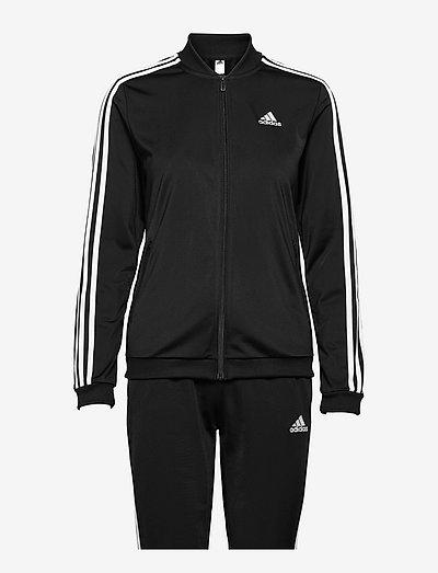 Essentials 3-Stripes Track Suit W - tracksuits - black/white