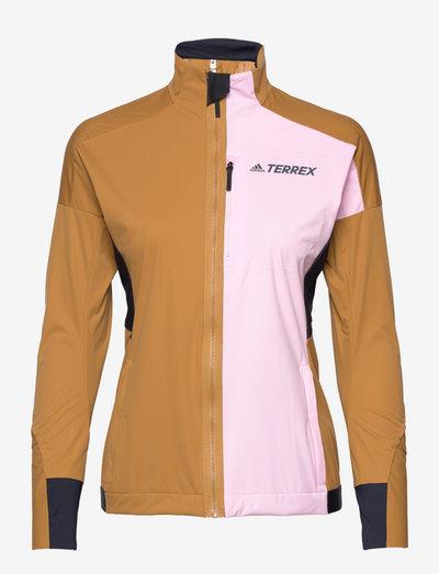 Terrex Xperior Cross-Country Ski Soft Shell Jacket W - kurtki turystyczne - mesa/clpink