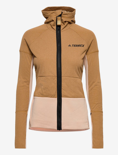 Terrex Zupahike Hooded Fleece Jacket W - frilufts- og regnjakker - mesa