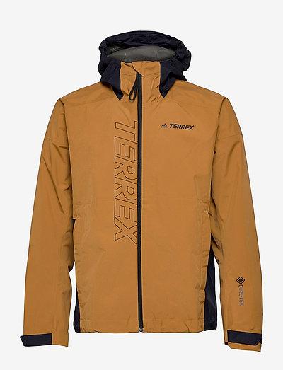 Terrex GORE-TEX Paclite Rain Jacket - friluftsjackor - mesa/legink