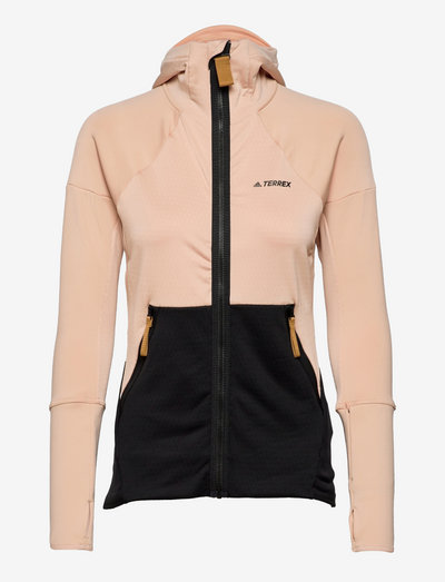 Terrex Tech Hooded Fleece Hiking Jacket W - fleece - halblu/black