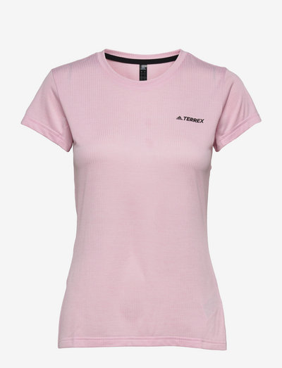 Terrex Tivid Tee W - kortærmede skjorter - clpink