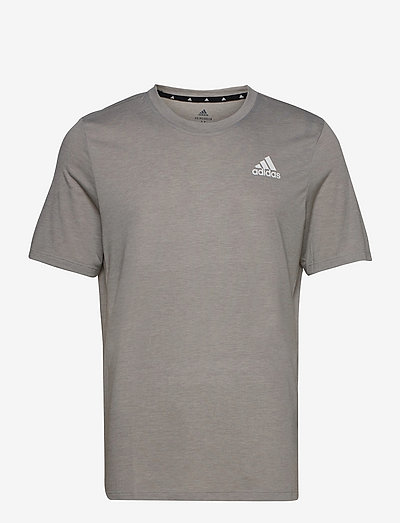 Primeblue Designed To Move Heathered Sport Tee - t-shirts - mgreyh/white
