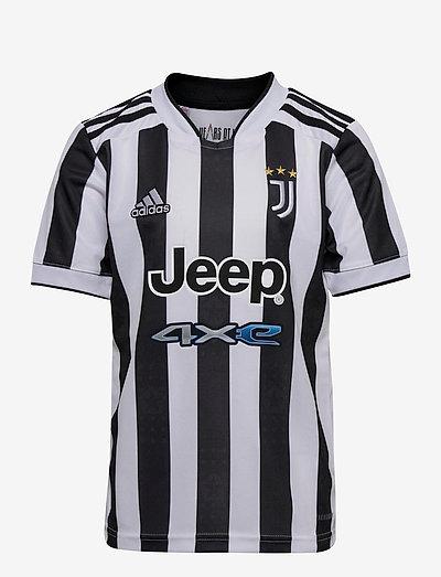 Juventus 21/22 Home Jersey - fodboldtrøjer - white/black