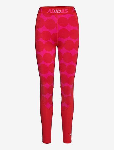 Marimekko Räsymatto Techfit High Waist Long Tights W - running & training tights - vivred