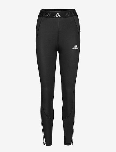 Techfit 3-Stripes High Waist Long Gym Tights W - løpe- og treningstights - black