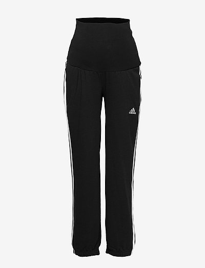 Essentials Cotton 3-Stripes Pants (Maternity) W - joggebukser - black/white
