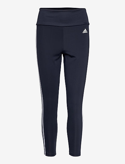 Designed To Move High Waist 3-Stripes 7/8 Tights W - running & training tights - legink/white