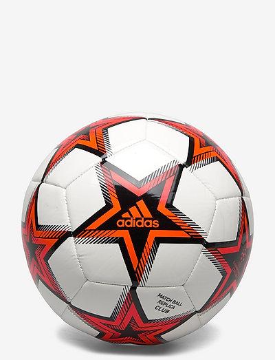 UCL Club Pyrostorm Ball - fotbollsutrustning - white/black/solred