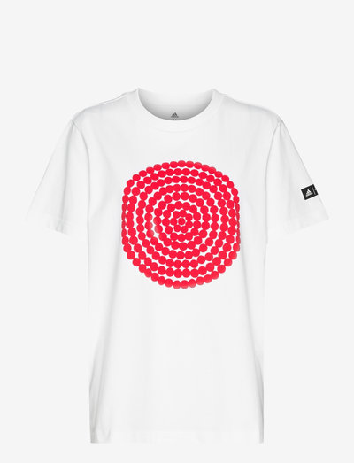 Marimekko Räsymatto Graphic Tee W - t-shirts - white