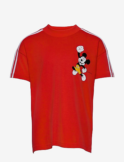 Disney Mickey Mouse Tee - kurzärmelig - vivred/white