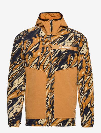 Terrex Multi Graphic Stretch Softshell Jacket - friluftsjackor - mesa
