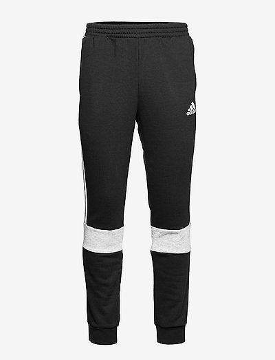 Essentials Fleece Colorblock Pants - sweatpants - black/mgreyh