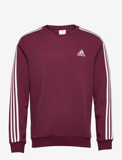 Essentials Fleece 3-Stripes Sweatshirt - Överdelar - viccri/white