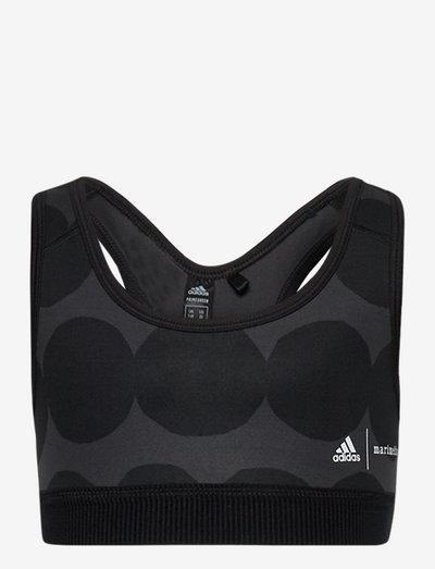Marimekko Räsymatto Primegreen Low Support Sports Bra W - nat- & undertøj - carbon/black