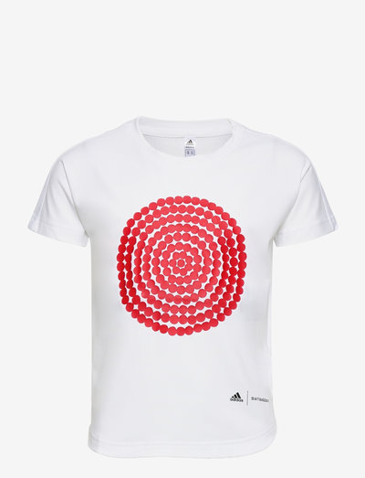 Marimekko Räsymatto Primegreen Graphic Tee - kortärmade t-shirts - white/vivred