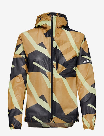 Terrex Agravic Graphic 2.5 Layer Rain Jacket W - jakker og regnjakker - mesa