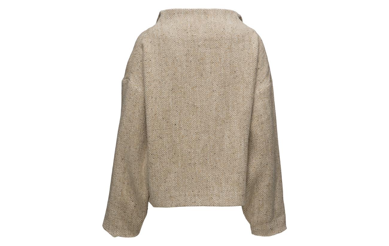 Laine 68 Neck Polyamide Coton 15 High 17 Áeron Box Coat Sand 7Zaqaw