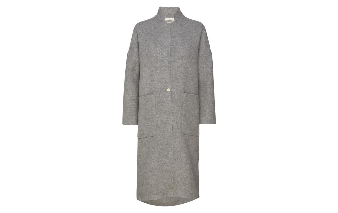 10 Coat Cachemire Heather Laine Polyamide 70 Duster 20 Grey Big Pocket Áeron wqOpRvZp
