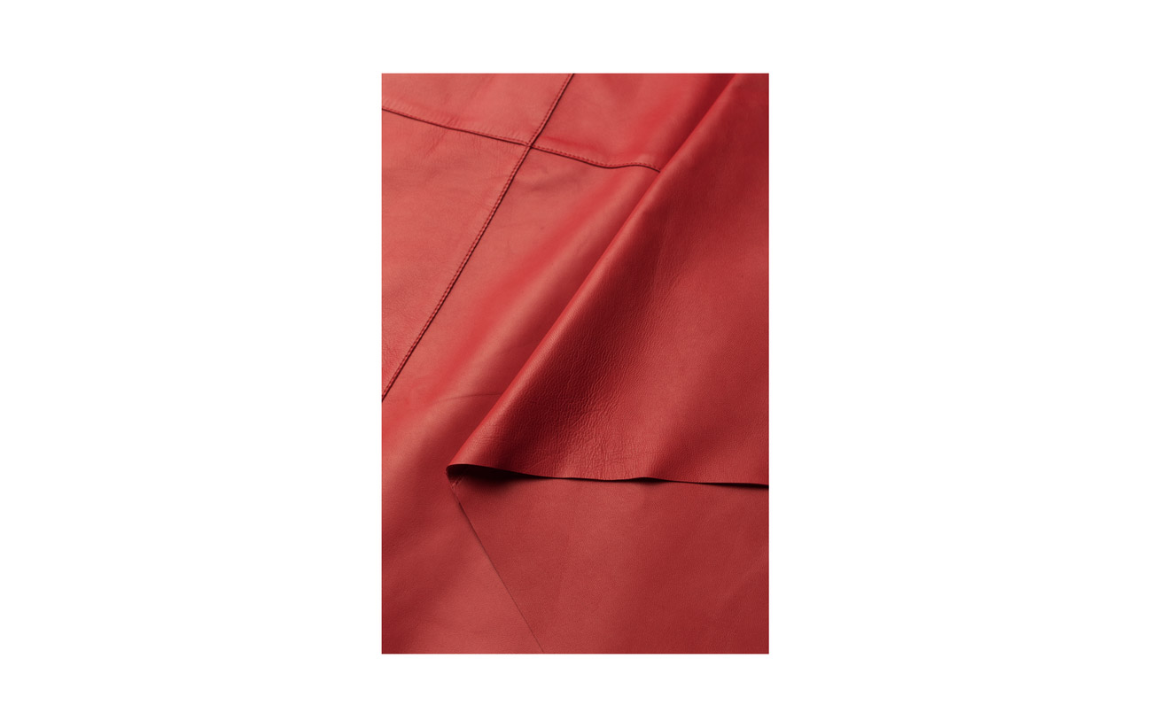 Cuir Skirt Draped Side Red Áeron 100 wx8qSHXE