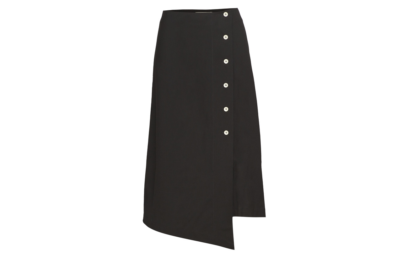 Elastane Slit Viscose 98 Skirt 2 Button Áeron Black XnP50