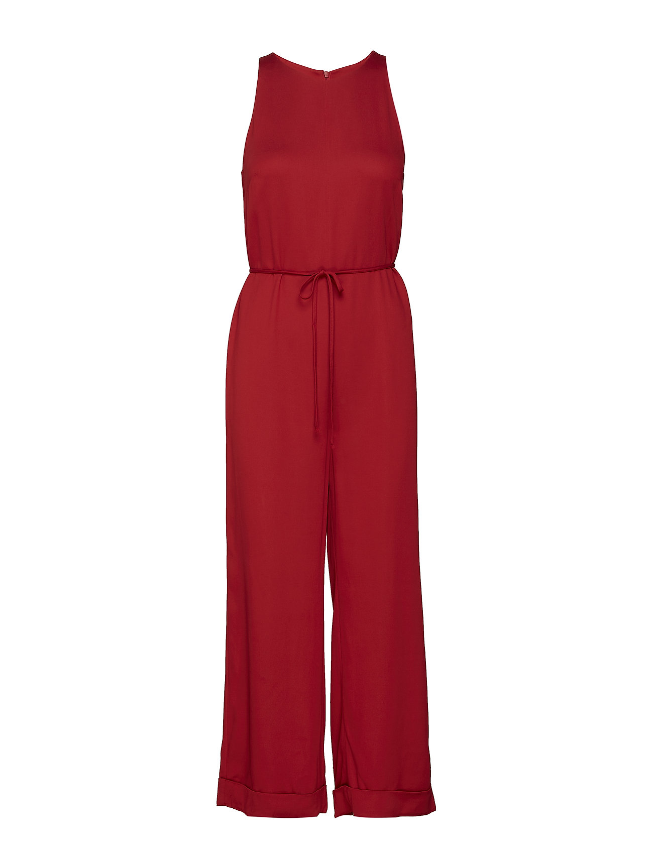 ÁERON tie front jumpsuit - POPPY RED