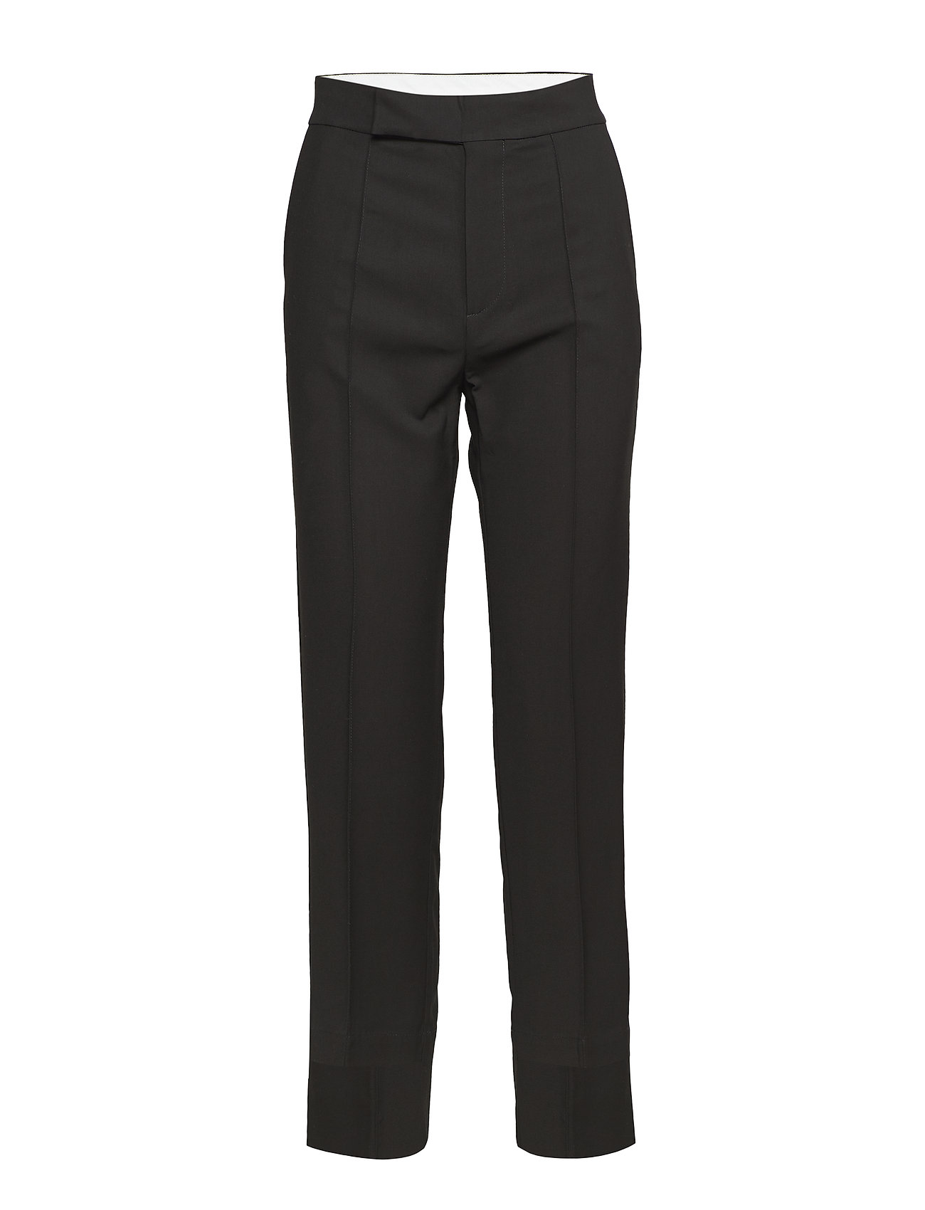 ÁERON asymmetric hem cigarette pants - BLACK