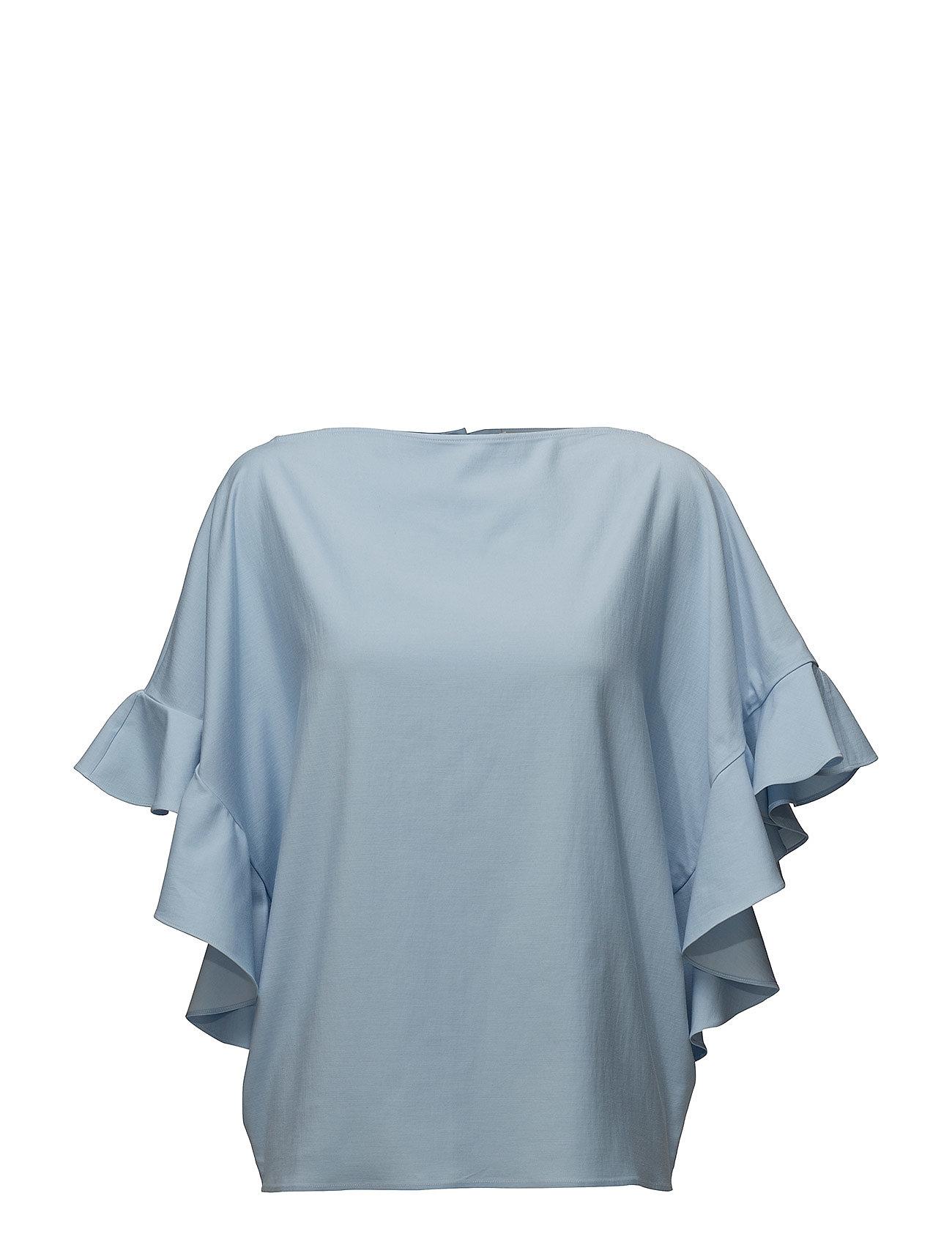 Billede af Back Buttoned Frilled Sleeve Top
