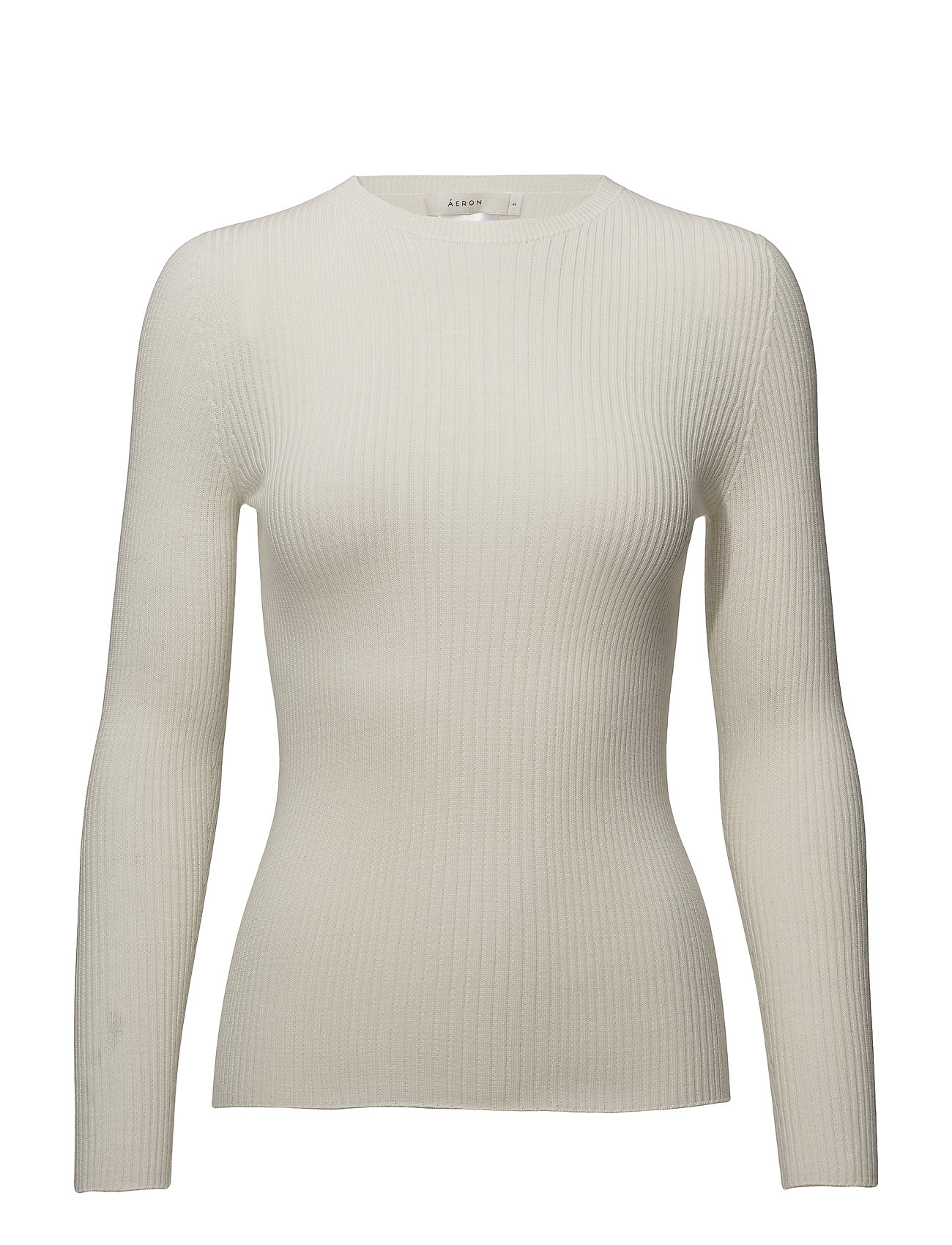 ÁERON ribbed slim knit top - CREAM