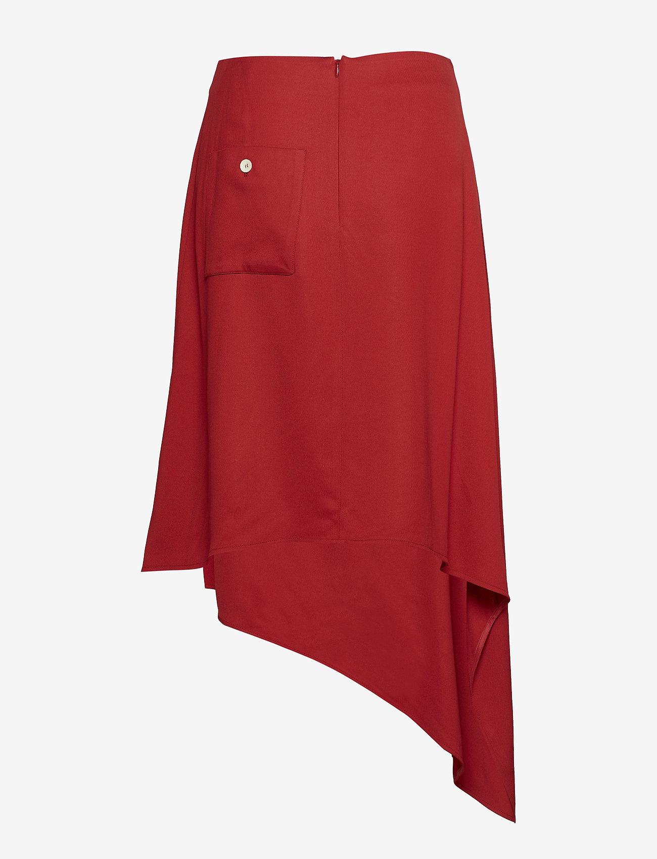 Back Pocket Midi Skirt  - ÁERON
