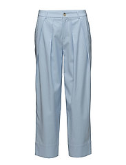 High waist pleated pants - BABY BLUE