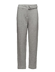 D-ring belted peg pants - GREY