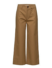 big pocket wide leg pants - BISCUIT