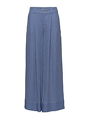 fluid low waist pants - AZURE BLUE