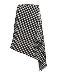 Side draped skirt - MULTI COLOURED