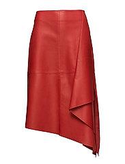 Side draped skirt - RED