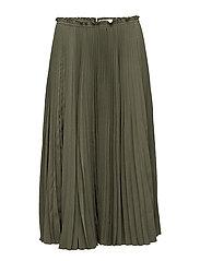 Pleated midi skirt - GREEN