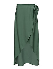 wrap maxi skirt - DUSTY GREEN