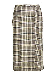 slit midi skirt - BROWN