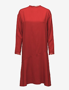 back pocket 20s dress - POPPY RED
