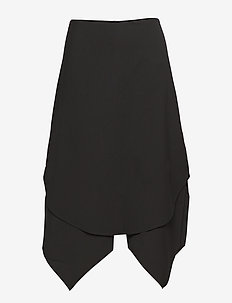 two-layer skirt - BLACK