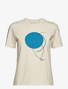 classic fit t-shirt - IVORY - BLUE