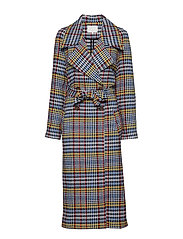 Biancha spring coat - MIXED CHECK