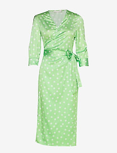 Cowry dots dress - MINT DOT