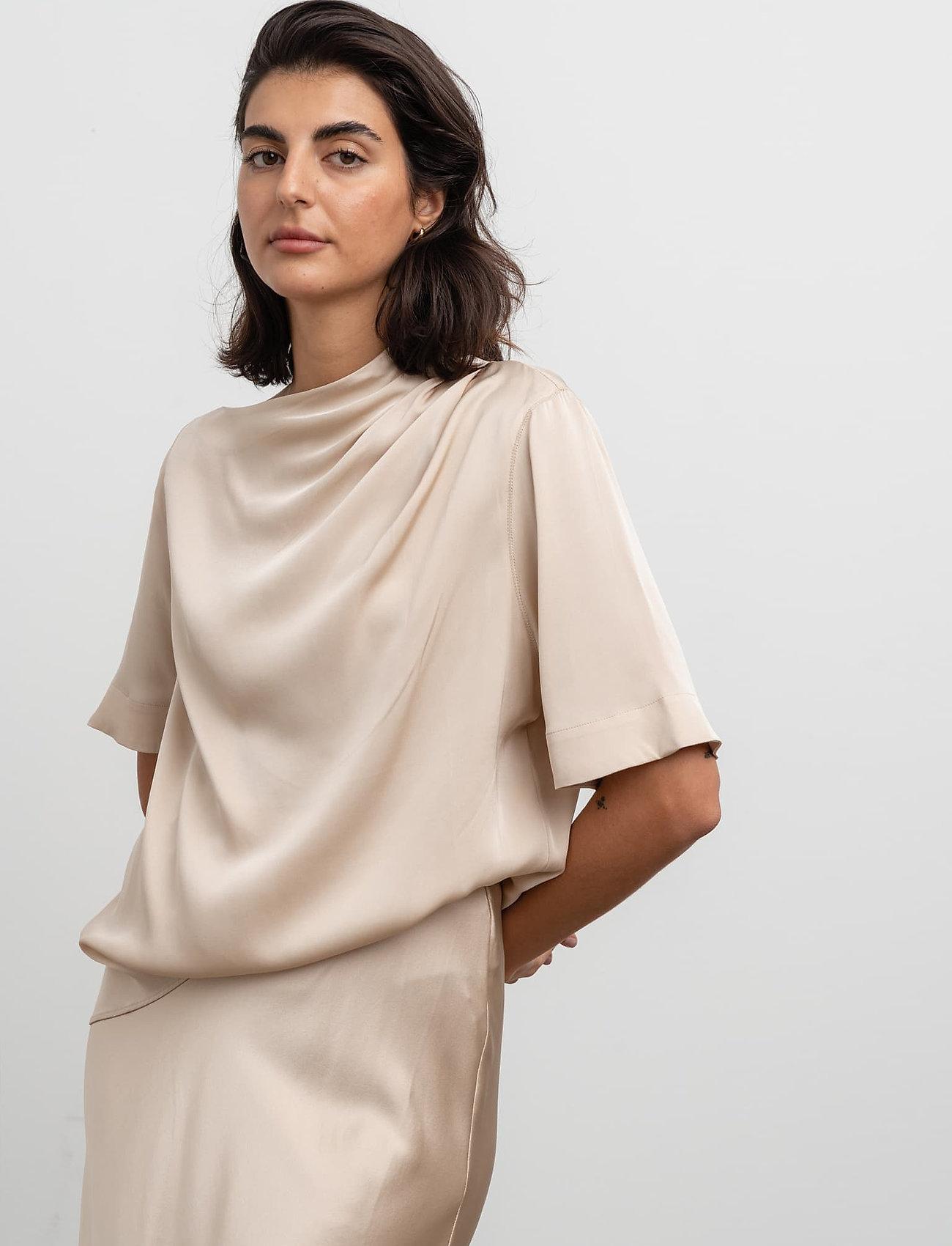 Ahlvar Gallery - Lima top - blouses met korte mouwen - powder - 3