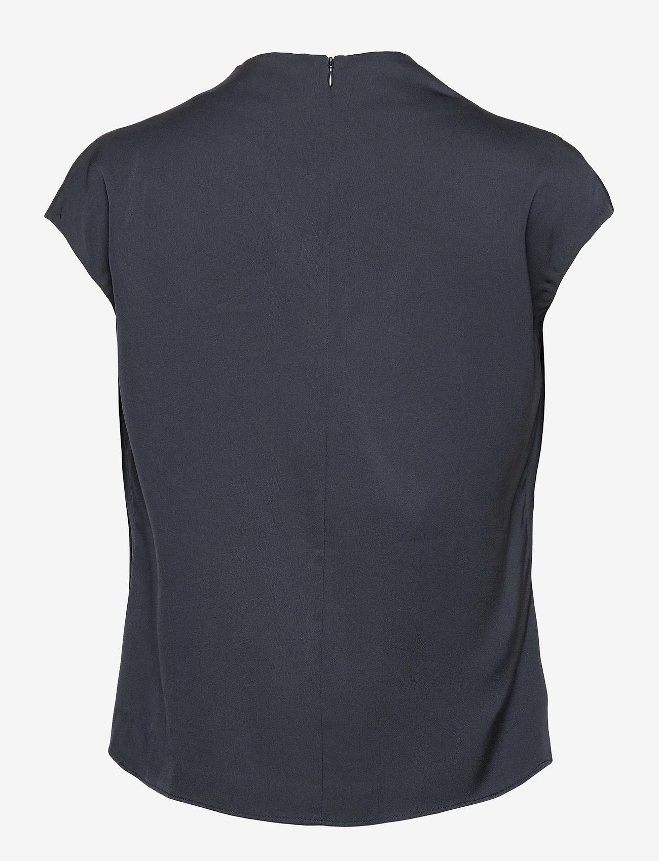 Ahlvar Gallery - Lima top - blouses met korte mouwen - blue grey - 2