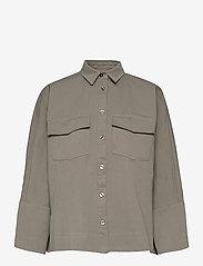 Ahlvar Gallery - Gigi over shirt - kleding - light military - 0